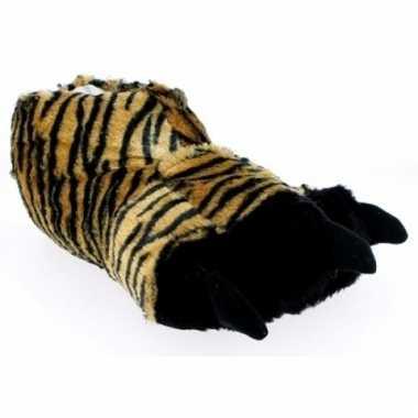 Bruine dierenpoot pantoffels voor heren