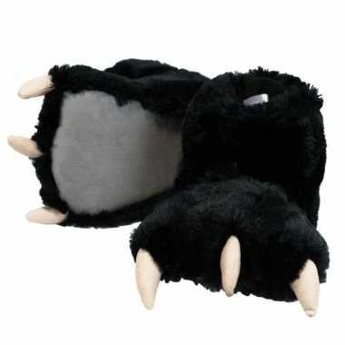 Dierenpoot pantoffels zwarte beer voor dames