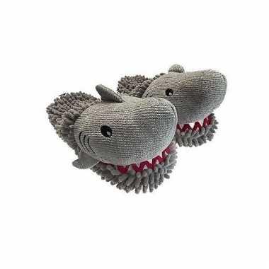 Grijze haai pantoffels voor dames