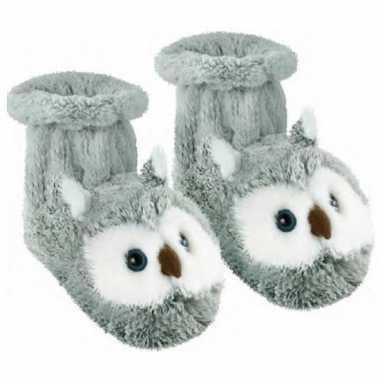Grijze uil sokken