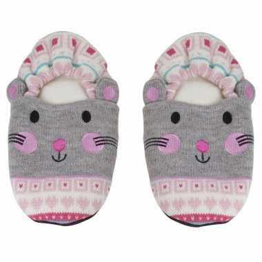 Pluche kersenpit warmte magnetron muizen sloffen/pantoffels voor volwassenen