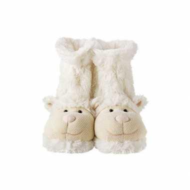Witte lammetje sokken