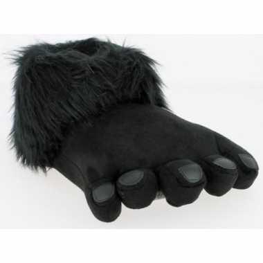 d485dd6423b Zwarte dierenpoot pantoffels voor heren