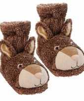Konijnen sokken bruin