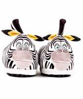 Zebra sloffen voor volwassenen